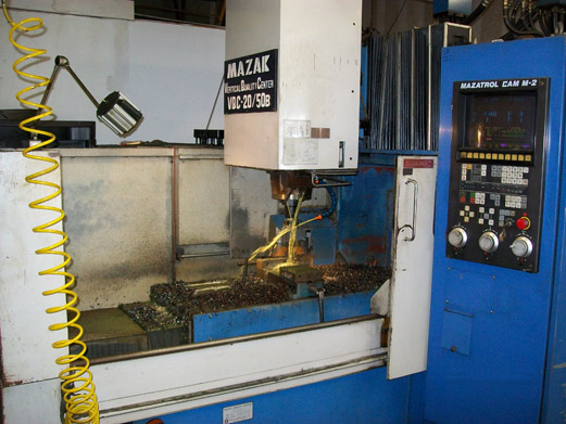 Machine shop equipped with CNC and conventional Vertical End Mills, Lathes and surface Grinding.